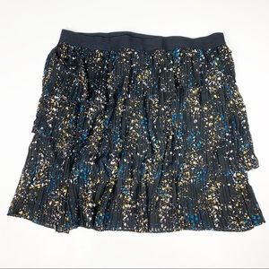 ⭐️Worthington Firework Floral Pleated Skirt XL